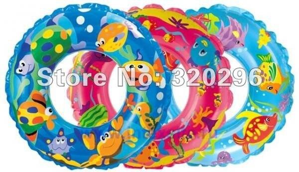 "Intex 24"" Inflatable Transparent Ring Swim Tube #59242"