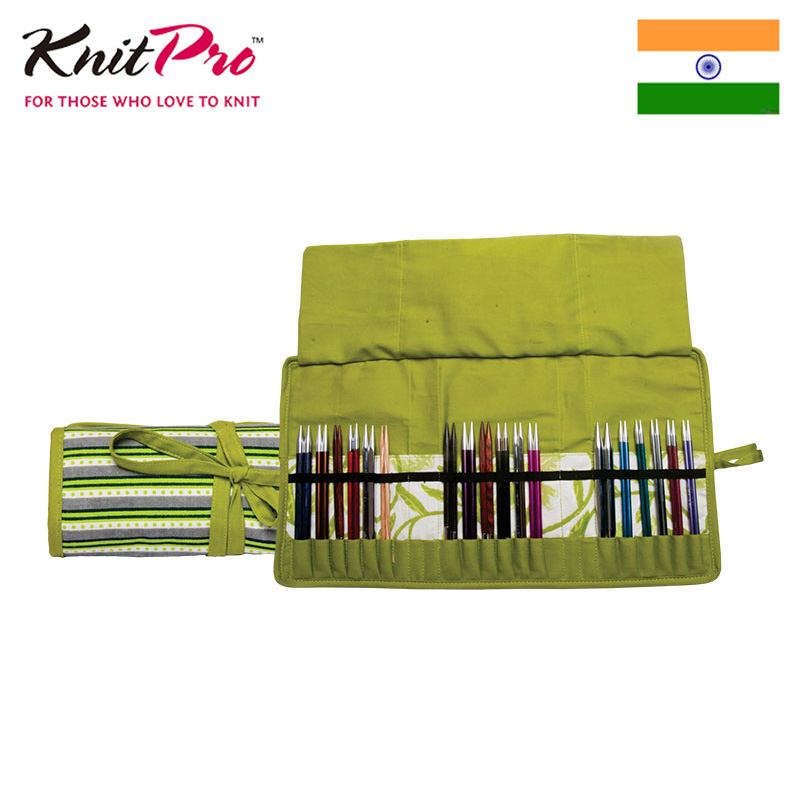 Knitpro Greenery Knitting Needles Bag For Five Types Storage (no Needles In The Bag)