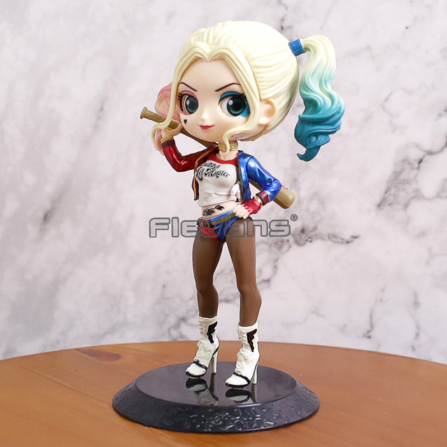 Q Posket Petit Esquadrão Suicida da DC Comics Harley Quinn Q Versão PVC Figura Collectible Modelo Toy 14 cm