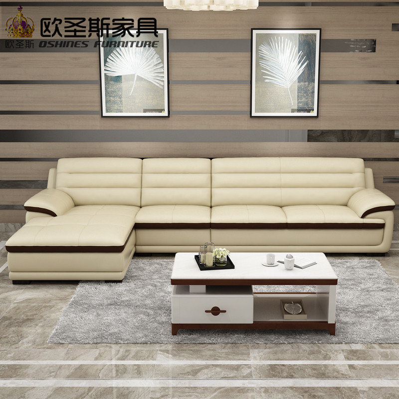 Superbe Roma Modern L Shape Sectional Softline Synthetic Leather Corner Germany  Living Room Heated Leather Sofa With Single Chair Chaise In Living Room  Sofas From ...