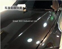 Hochglanz 5D Carbon Black Vinyl Wrap Film Wie Echte glänzend Schwarz 5D Carbon Fibre Free Für Auto Wrap 1,52x20 mt/Rolle(China)