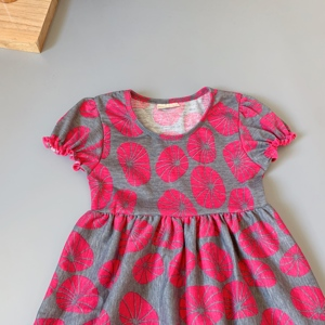 Image 5 - Grey, rose red,lotus girls dress Outfits Infants and Children dresses  soft Ruffle flower frocks for kids kids boutique clothing