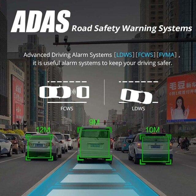 "ANSTAR 4G Android Rearview Mirror Car DVR 10"" HD 1080P GPS WIFI ADAS Dash Cam Dual Lens Recorder Auto Camera Registrar DVRs 3"