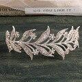 2017 Aleación Impresionante Crystal hojas de Vid de La Boda Accesorios para el Cabello Diadema Nupcial Cabeza Mujeres Joyería Del Pelo de la boda Tiaras coronas