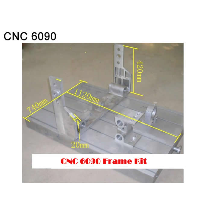 Factory use DIY cnc router kits cnc machine frame CNC rack 6090 aluminum Lathe bed with ball screw guide rail linear bearing