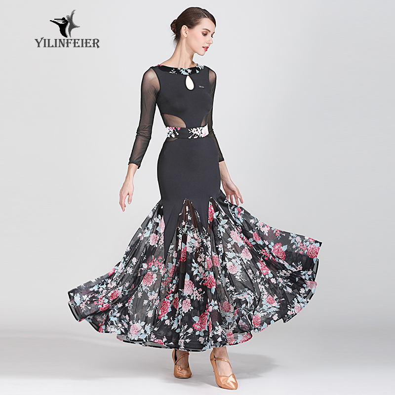 New Ballroom Dance Competition Dress Dance Ballroom Waltz Dresses Standard Dance Dress Women Ballroom Dress  1873