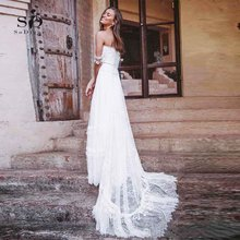 Lace Wedding Dress 2018  Beach Elegant Vestido De Noiva Romantic Bridal High Quality Custom made