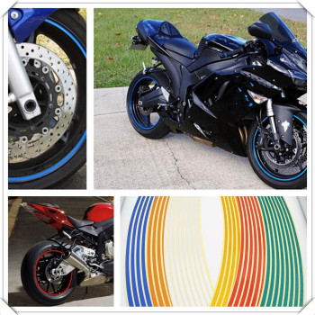 Strips Motorcycle Wheel Sticker Reflective Decals Rim Tape Bike Car Styling For BMW K1200R SPORT Ducati Panigale 1199 S image