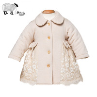 Newborn Baby Girl Autumn Winter Lace Cotton Full Sleeve Outerwear Coats 2016 New Fashion Girl Single