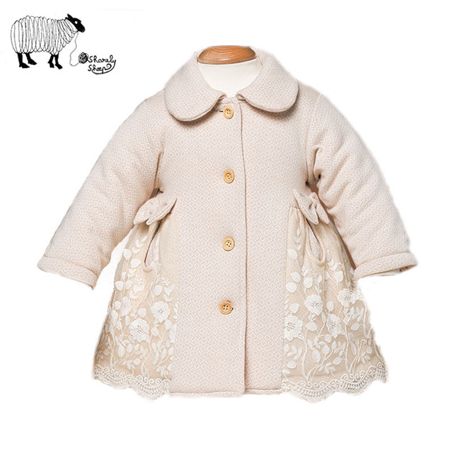 Infant Baby Girl Winter Organic Cotton Long Sleeve Lace  Jackets Toddler Tiny Baby Thick Padded Coats Snowsuit Outerwear Clothes