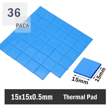 36 pcs/lot 15mm x 0.5mm CPU SMD DIP IC Chip Silicone Thermal Pad