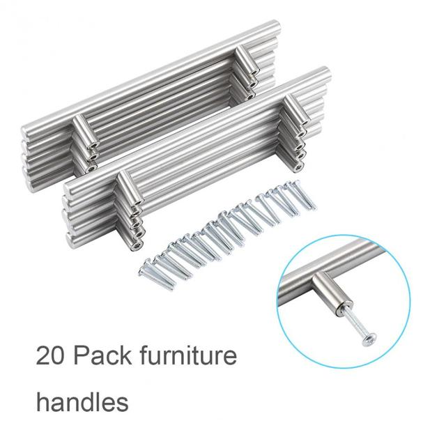 20Pcs/Pack Furniture T Bar Handle Pull Knob Kitchen Door Cabinet Knobs for Shoe Cabinet Bookcase Drawer