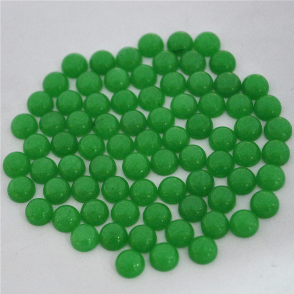 Top Selling Assorted Natural Stone Cabochon CAB Healing Charms Malay Stone Round Beads Jewelry Making Accessories 100Pcs 6mm