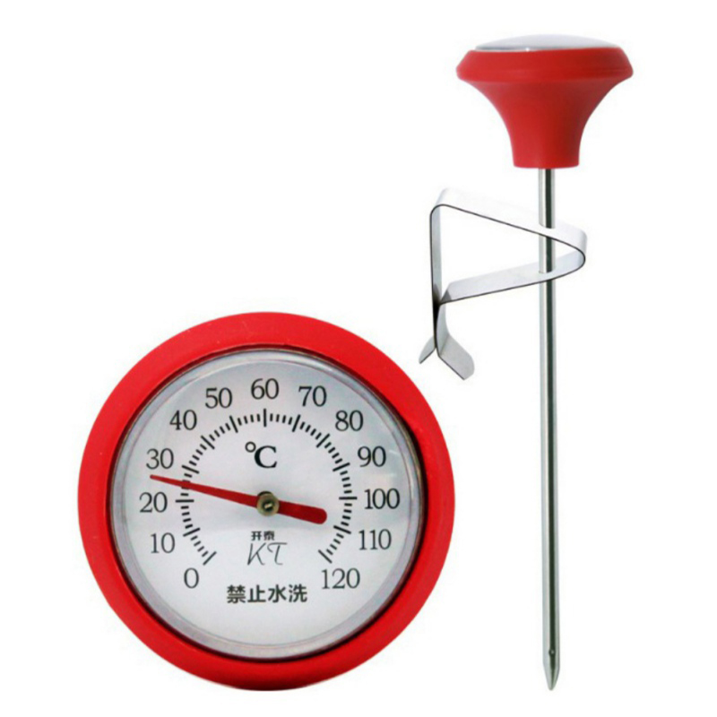 Stainless Steel Thermometers 100 Degree Centigrade Cooking Oven BBQ Barbecue Milk Meat Food Coffee Probe Thermometer Gauge