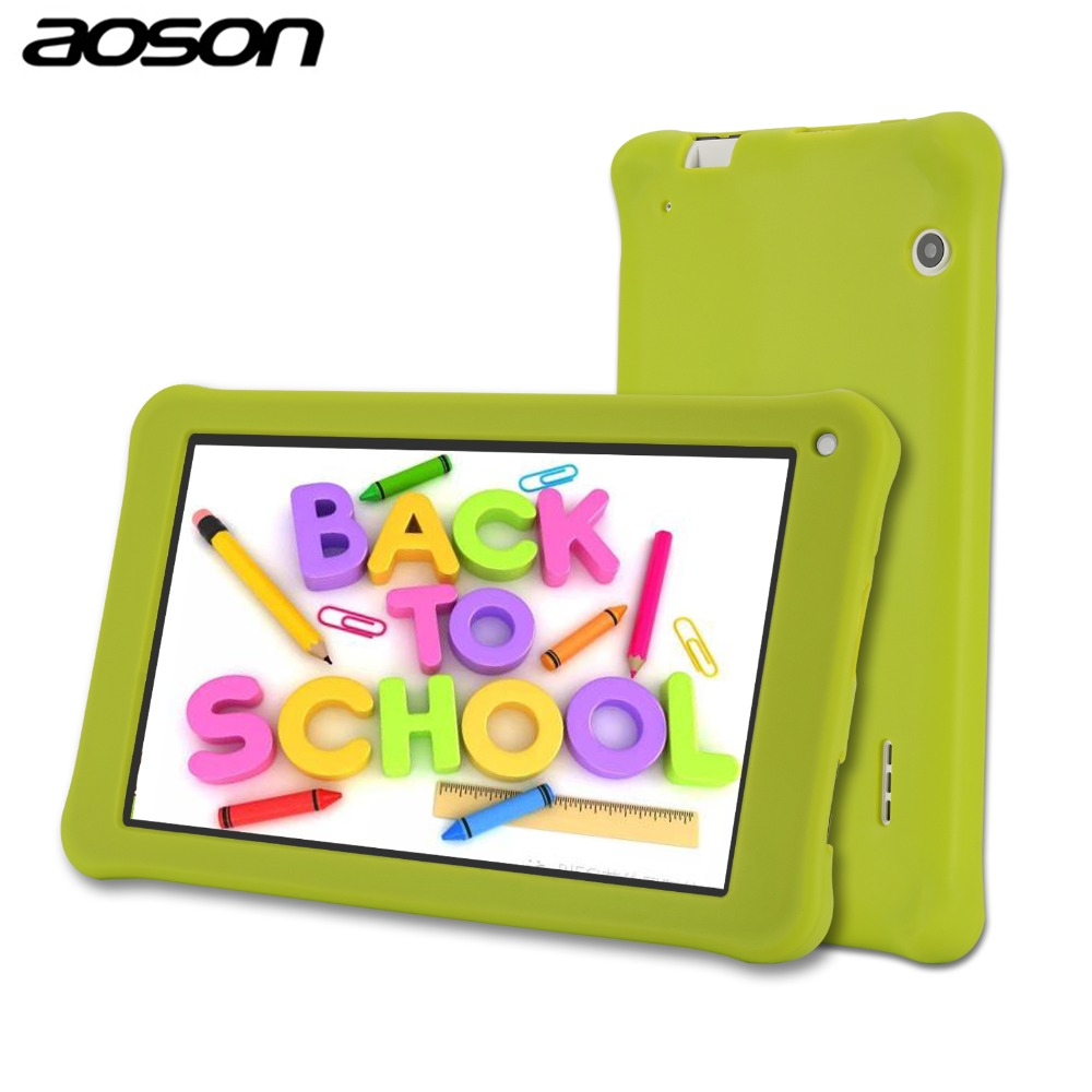 7 pulgadas niños Tablet regalo 16 GB/1 GB Android 7,0 Aoson M753 Kids Learning Tablet PC con silicona software funda Control Parental
