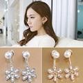 Brincos 2017 Pearls Pendientes Earing Bijoux Imitation Pearl 5 Flowers Stud Earrings For Women Wedding Jewelry Earings Brincos