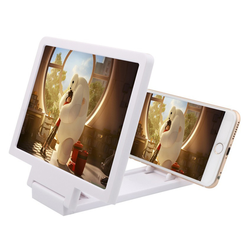 LISM 3D Multifaction Mobile Phone Movie Video Screen Magnifier Eyes Protection Display Amplifier Folding Enlarged Expander Stand