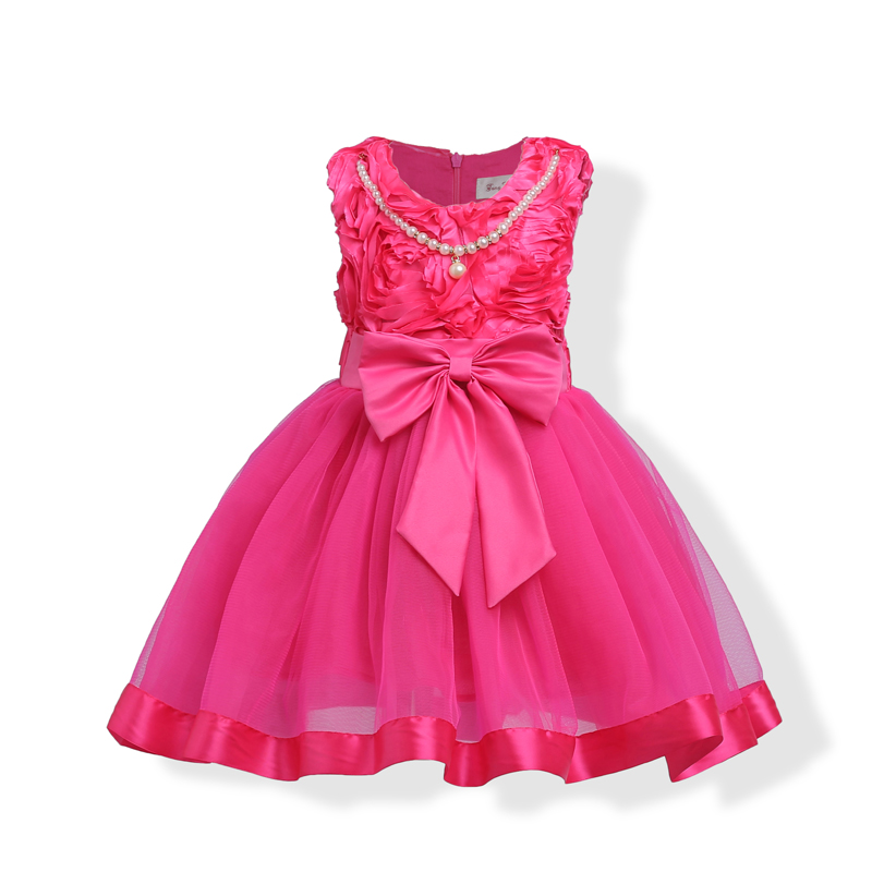 Anime Ball Gown White With Red Roses: Rose Red Ball Gown Formal Girls Flower Dress Summer