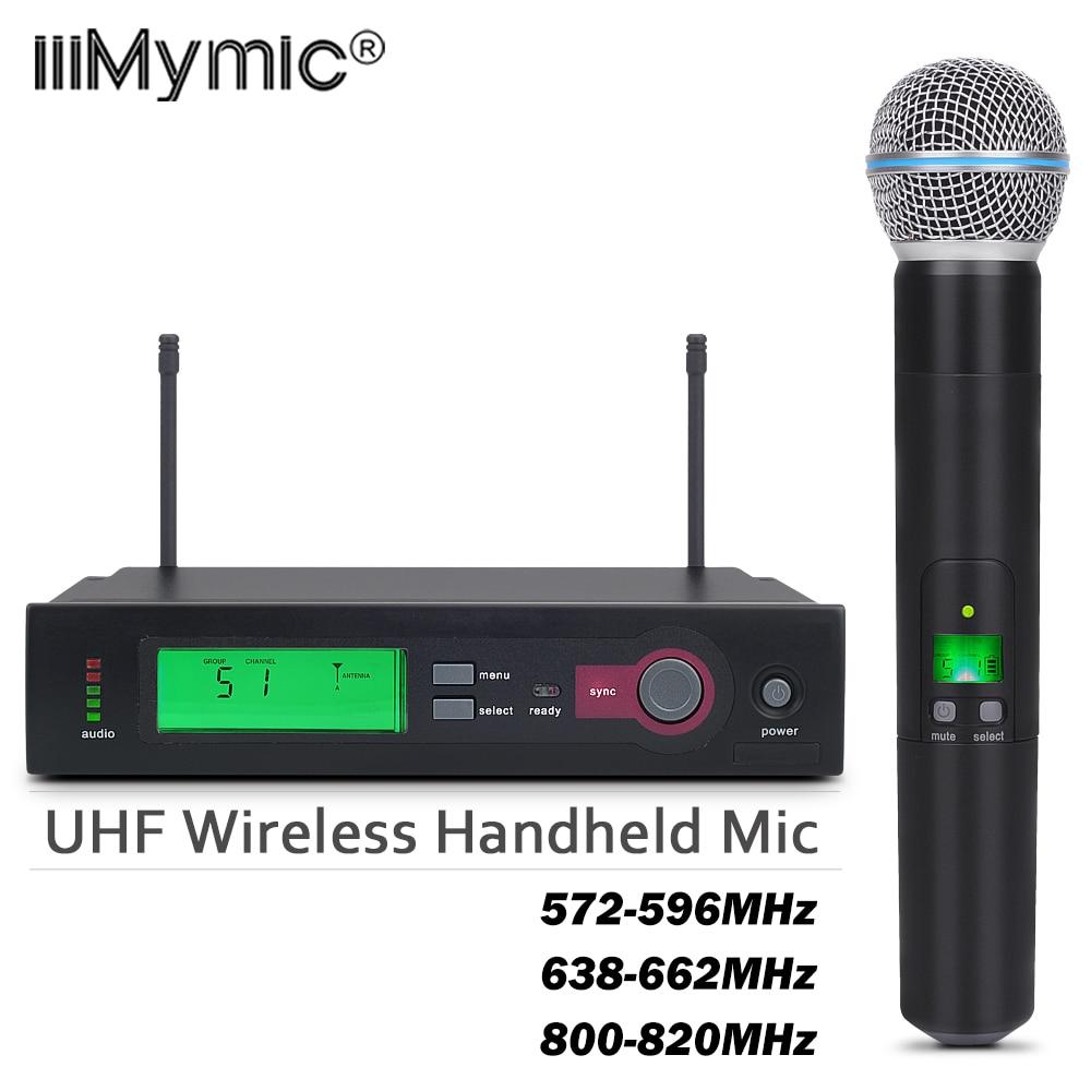Top Quality SLX24/BETA58 58A Wireless Single Handheld Microphone System UHF Professional Karaoke Microphone