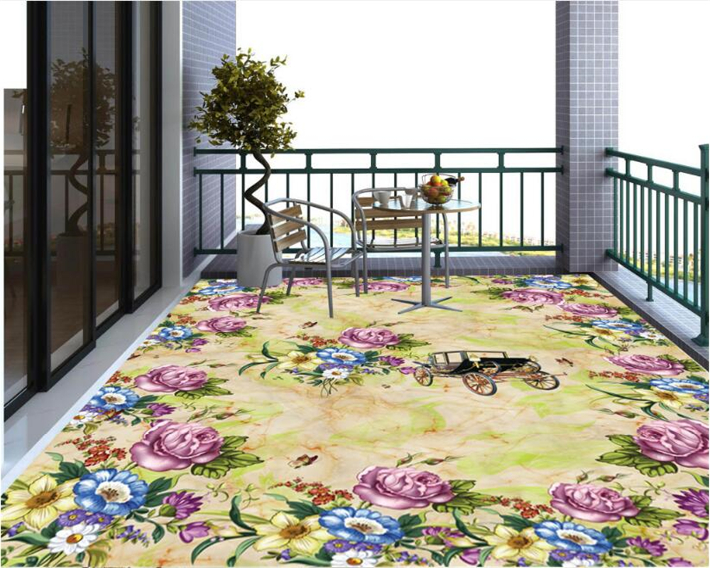 beibehang 2018 fashion personality classic modern wall paper floral European marble 3D floor tiles papel de parede 3d wallpaper beibehang walking cloud 3d floor tile tile customization large fresco pvc thick wear resistant floor cover papel de parede