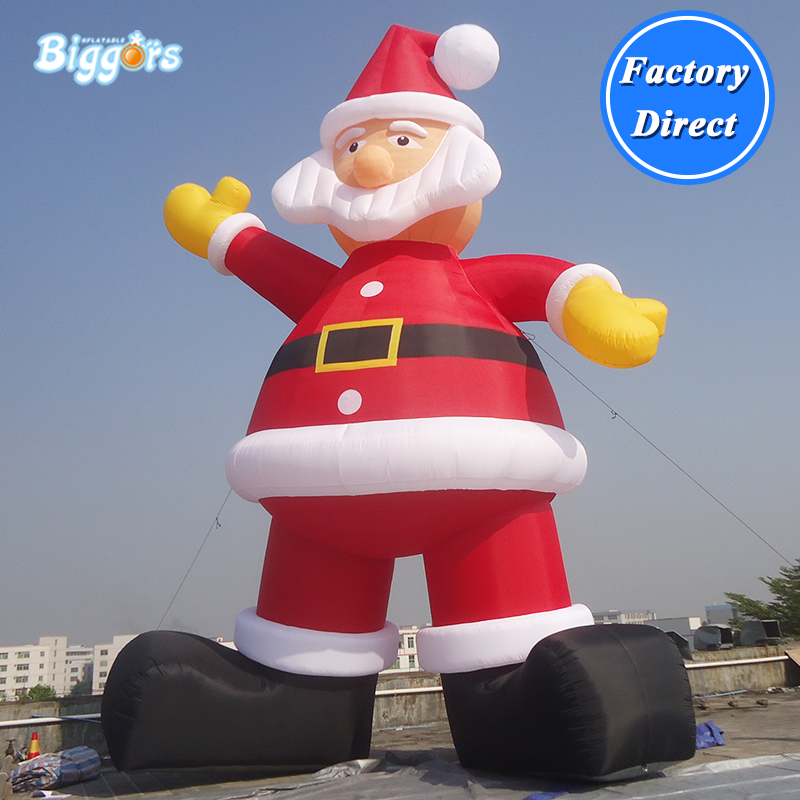 Inflatable Santa Claus Toys Inflatable Christmas New Year Decorations Party Blow Up Santa Claus santa claus walking in the snow pattern stair stickers