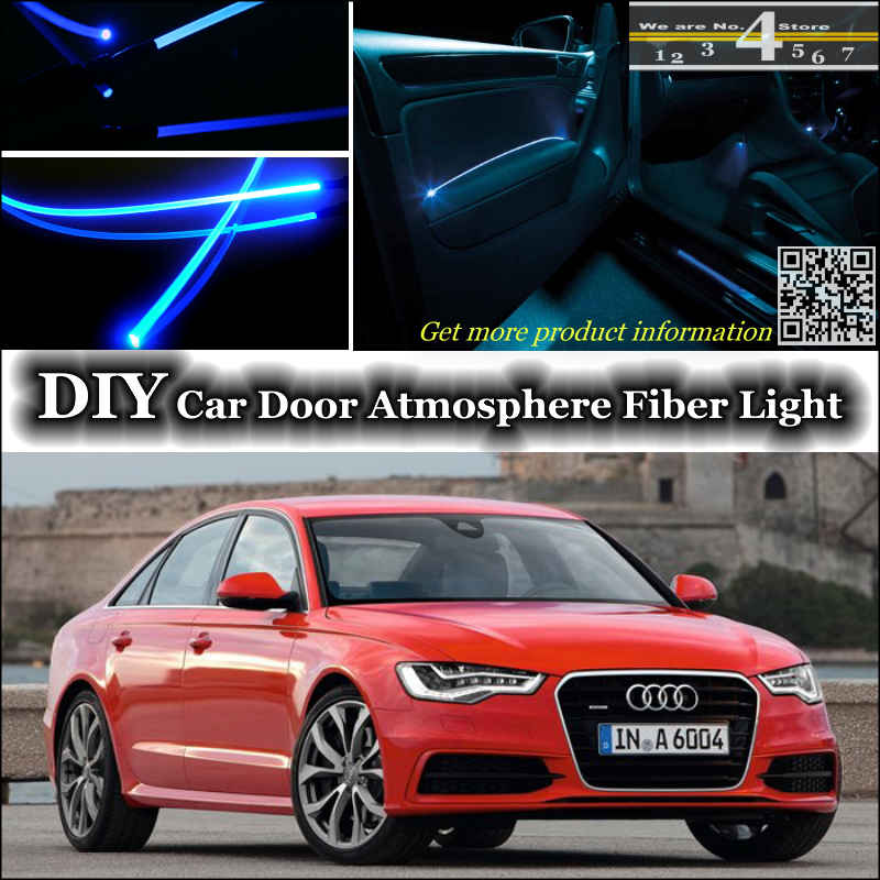 Interior Ambient Light Tuning Atmosphere Fiber Optic Band Lights For Audi A6 S6 RS6 C6 C7 Door Panel Illumination Not EL Light