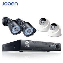 JOOAN 8ch DVR домашней безопасности камера системы 4 шт. 720 P ИК Ночное Видение открытый 1080N система видеонаблюдения аналоговая камера высокого разрешения цифровой видеорегистратор товары теле и видеонаблюдения комплект