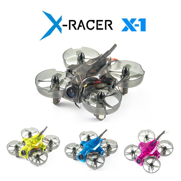 X-Racer X-1 BNF with Two Batteries Agile safe fun ultra-micro FPV drone designed for indoor flying in even the smallest of place беруши макс ultra safe sound 32дб 2 пары
