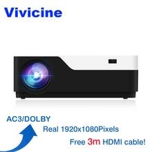 Vivicine M18 1920X1080 projecteur Full HD réel, HDMI USB PC 1080 p LED maison multimédia projecteur de jeu vidéo Support Proyector AC3