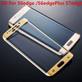 S7 Teléfono Protector de Pantalla de Cristal Templado Curvado borde Completo 3D película protectora pelicula de vidro para samsung galaxy s6 edge plus