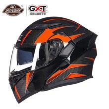 GXT Casco Del Motociclo Flip up Casco Moto Motocross Casco Capacete da Motociclo Cascos Doublel Lente Corse Caschi Da Equitazione #