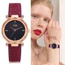 2018 новый модный бренд класса люкс Для женщин часы кожаный ремешок Винтаж спортивные наручные часы золотые часы Relogio Feminino