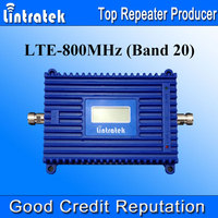 Lintratek 4G LTE Signal Repeater Booster 800MHz Band 20 70dBi Gain 4G LTE 800MHz Mobile Cell