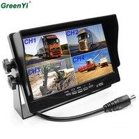 GreenYi T706 6 шт. 7 Разделение Quad монитор подголовник автомобиля Дисплей 4CH видео Вход для шины/Грузовик Ван /прицеп/RV/Кемперы