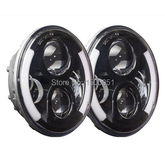 2016 Best Selling LED Light 7inch Round 80w with Hi/lo Beam DRL