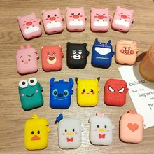 Cartoon Soft Silicone Bluetooth Earphone Case Protective Cover Skin Accessories for Apple Airpods Cases Charging Box with Hooks(China)