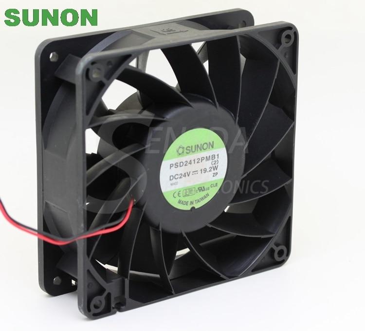 Original SUNON 120x38mm PSD2412PMB1 120mm 12cm DC 24V 19.5W server inverter axial Cooling Fans new original sunon 12cm psd2412pmb1 24v 19 5w 2wire server inverter axial cooling fans120 120 38mm