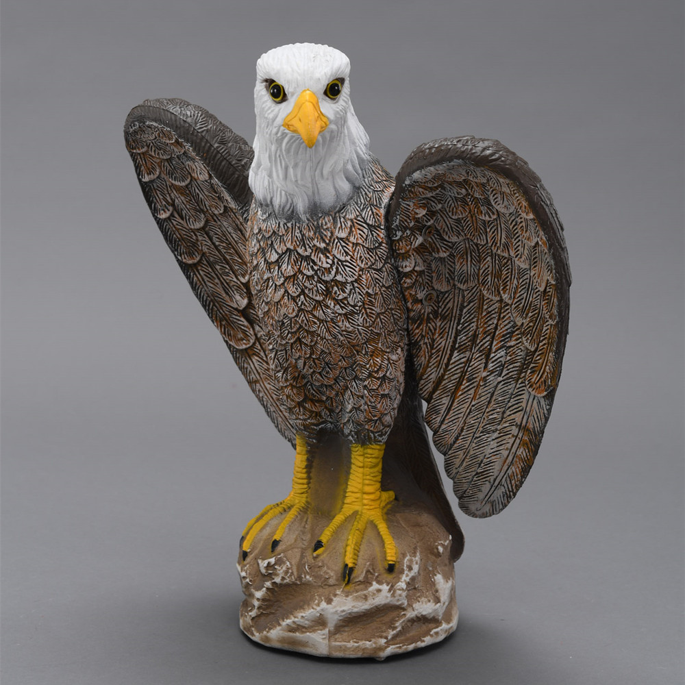 ZILIN Plastic Bald Eagle Decoy Bird Scaring Bald Eagle Garden defence Hawk Eagle New Product