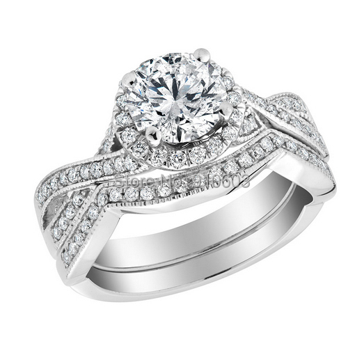Aliexpress.com : Buy Infinity 2 Carat Simulated Diamond Engagement ...