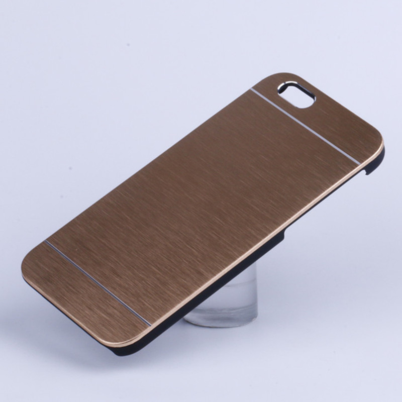 Motomo Slim Metal Plastic Armor Brushed Back Cover Case for iPhone 8 7 7 Plus 6 6S 6G Plus 5 5S 5G 4 4S 4G Hybrid PC Case Coque