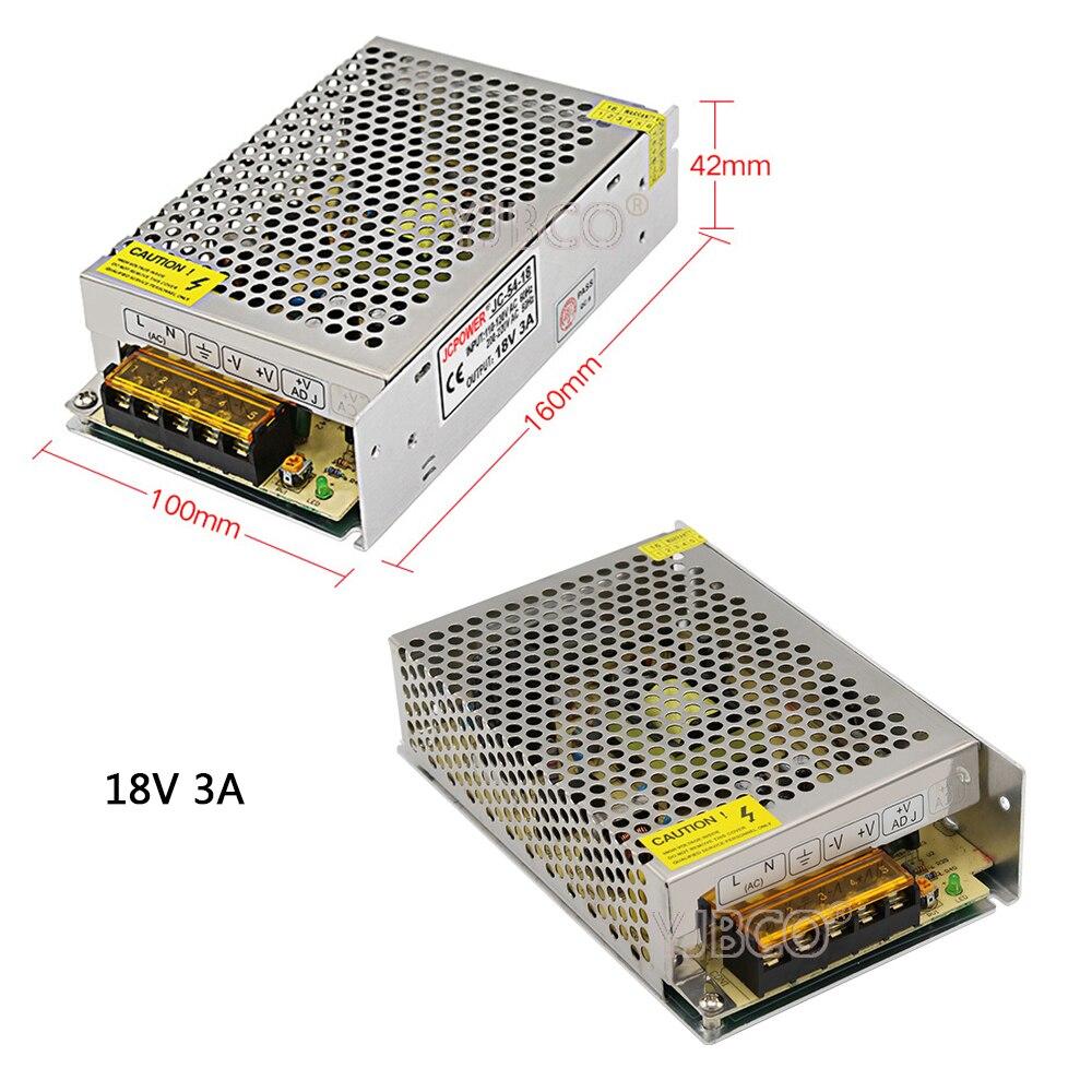 DC18V Regulated Switching Power Supply 2A/3A/5A/10A/20A Swich Driver Transformer AC110V 220V to DC 18v For LED Strip Light CNC 201w led switching power supply 85 265ac input 40a 16 5a 8 3a 4 2a for led strip light power suply 5v 12v output