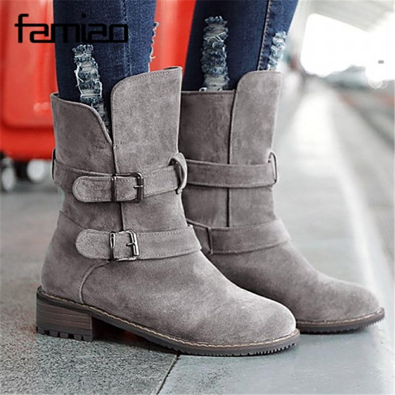 fd84f96ac Tacón Botas Nueva Vintage Boots Otoño Martin gray Boots brown Mujer Moto  Cuadrado Primavera Las Zip Mujeres De Y Planas Moda Cadenas ...