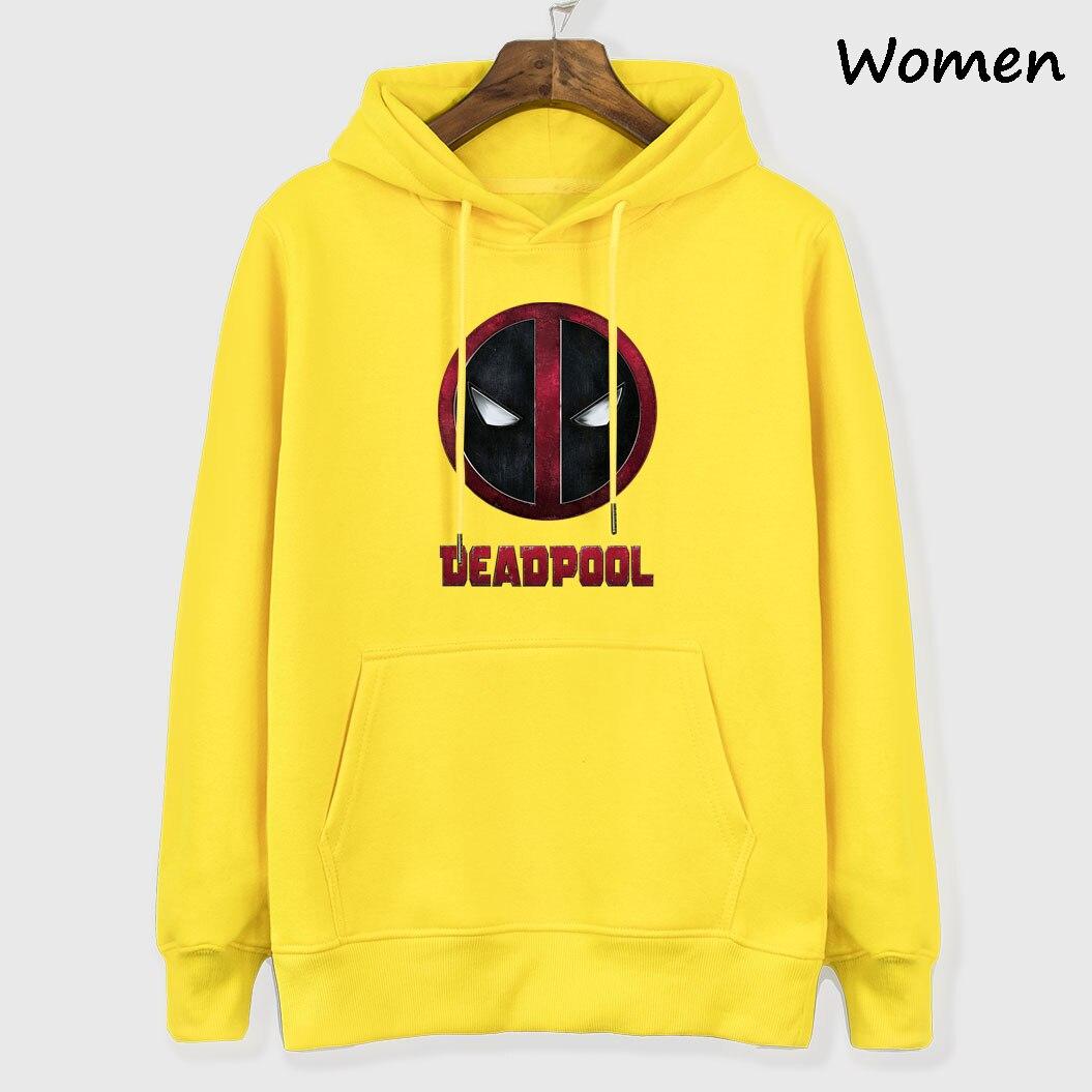2019 Fashion Hoodies Women's Sweatshirts Hip Hop Sportswear Spring Autumn Woman Fleece Hooded Harajuku Tops Tracksuit Deadpool