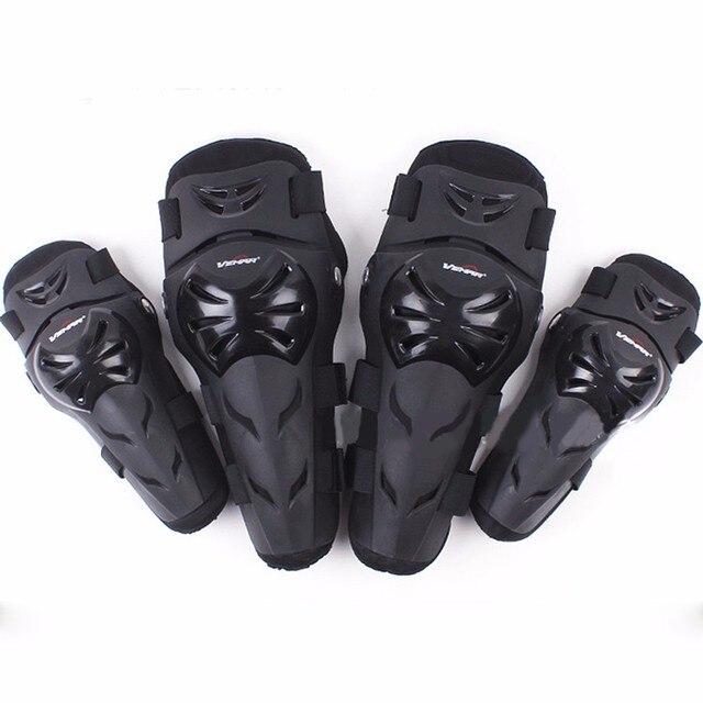 3e6c0ce9f9f 4 unids alta calidad Rodilleras para moto motocicleta coderas rodilleras  motocross Seguridad protecciones moto protector