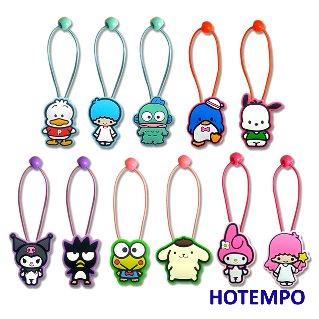 Cute Cartoon Pochacco Pekkle Maru Keroppi Kuromi Melody Twinstars Japan Kawaii Girls Elastic Hair Bands Hair Ring For Girls Gift