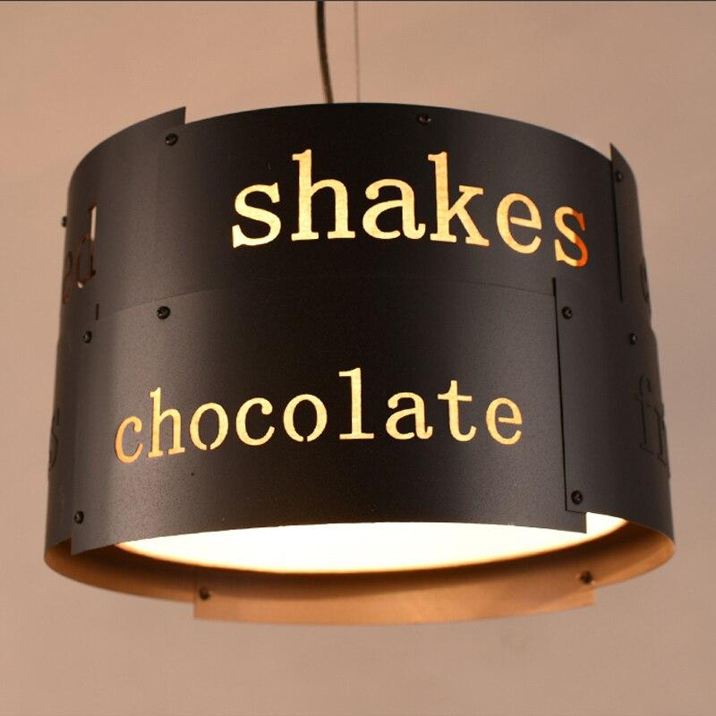 Ретро промышленный Лофт черный металлический подвесной светильник винтажный креативный английский буквенный Бар Кафе подвесной светильник освещение PL628 - 3