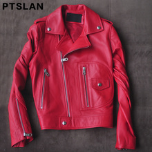 Ptslan 2017 font b women s b font real leather font b jacket b font genuine