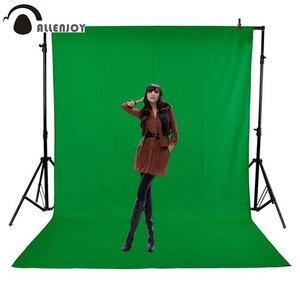 Image 2 - Allenjoy écran vert Chromakey portrait photographie keying toile de fond non tissé tissu professionnel pour Studio Photo