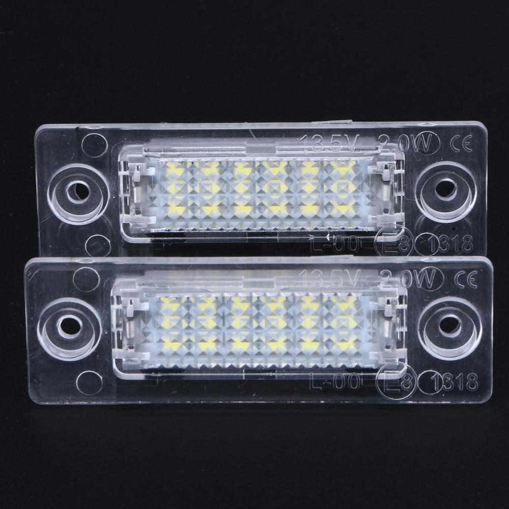 2 stk LED nummer nummerplade lys bageste lampe 18-LED til VW Caddy - Billygter - Foto 4