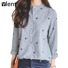 Women's blouses and Vlent Leaves Embroidery